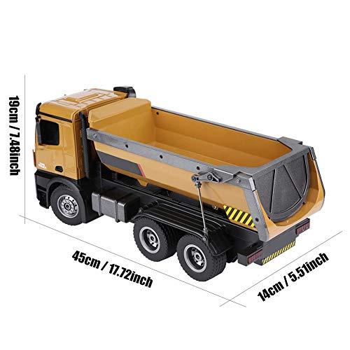 RC Auto kaufen Baufahrzeug Bild 5: Dilwe RC Muldenkipper, HUINA 1573 1/14 Skala 2,4 GHz RCDumping Truck Auto Fernbedienung Engineering Fahrzeug Spielzeug Geschenk für Kinder*