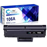 LxTek Compatible Reemplazo para HP 106A W1106A Cartuchos de tóner para HP Laser 107a 107r 107w 135a 135r 135w 137fnw (1 Negro, con Chip)