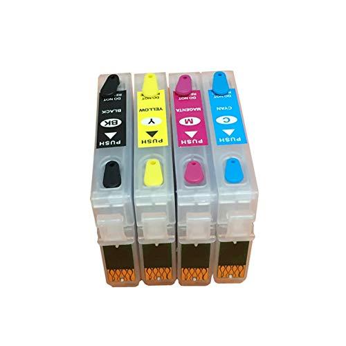 WSCHENG T0921N-T0924N Cartucho de Tinta Recargable con Chips de Arco para EPSON T26 T27 TX117 TX119 TX106 TX109 C91 CX4300 Impresora