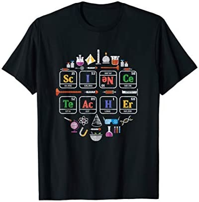 Science Teacher Periodic Table Chemistry Elements Xmas Gift T Shirt product image