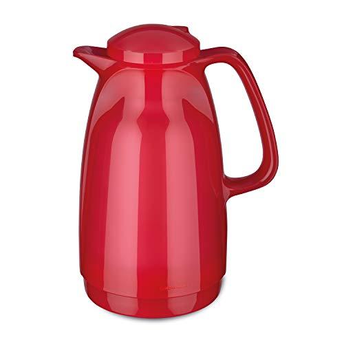 ROTPUNKT Isolierkanne 227 Bella 1,5 l   Zweifunktions-Drehverschluss   BPA-frei - gesundes Trinken   Made in Germany   Warm + Kalthaltung   Glaseinsatz (Glossy Bubblegum)