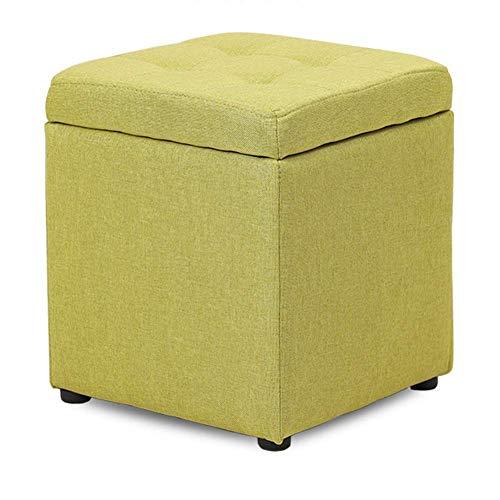 Sywlwxkq Taburete otomano con Almacenamiento de Tela en Forma de Cubo, Caja de Juguetes para Asiento de Banco con bisagra, Caja organizadora Superior, Cofre de puf, Asiento Individual-g 30x