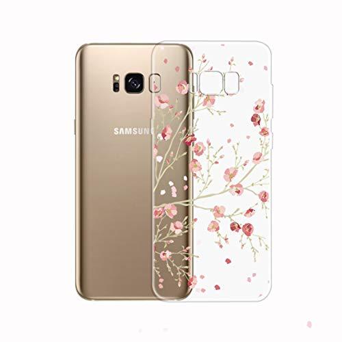 Samsung Galaxy S8 Plus hoesje, Bubunix Galaxy S8 Plus silicone hoesje, patroon transparant zachte silicone beschermhoesje mobiele heuptasje beschermhoes hoes case cover case cover case cover etui TPU bumper schaal voor Samsung Galaxy S8 Plus