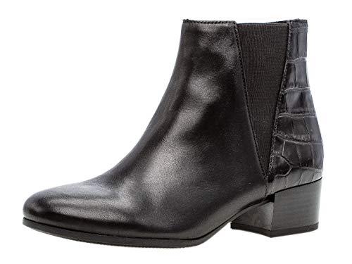 Gabor Damen Stiefelette 32.812, Frauen Kurzstiefel,Stiefel,Boot,Halbstiefel,Bootie,Reißverschluss,schwarz (Micro),39 EU / 6 UK