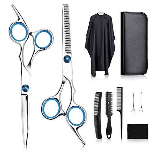 tomight Friseurscheren Set, Premium Haarschneideschere Licht Einseitiger Effilierer Haarschere, Effilierschere - Profi Friseur Perfekter Friseurschere Haarschnitt Frisörschere-Sets