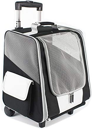 MeowWoof Dog Backpack Carrier with Wheels Genuine Free Shipping Travel for Popularity Pet St Cat