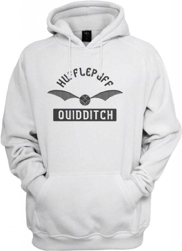 Hufflepuff Quidditch Hooded Sweatshirt (Ash/Steel) 3X-Large [P