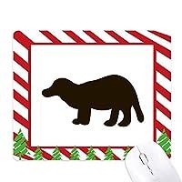 ブラックbagcerかわいい動物 ゴムクリスマスキャンディマウスパッド