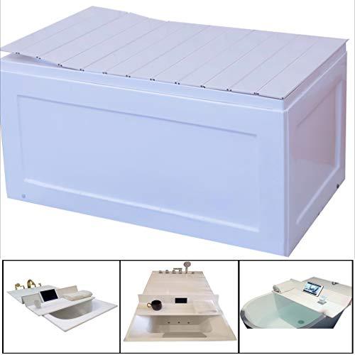 LwBathtub Tray Badkuip, multifunctionele badkamerplank, stofafdekking, keuze uit verschillende maten, geschikt voor alle badkuipen