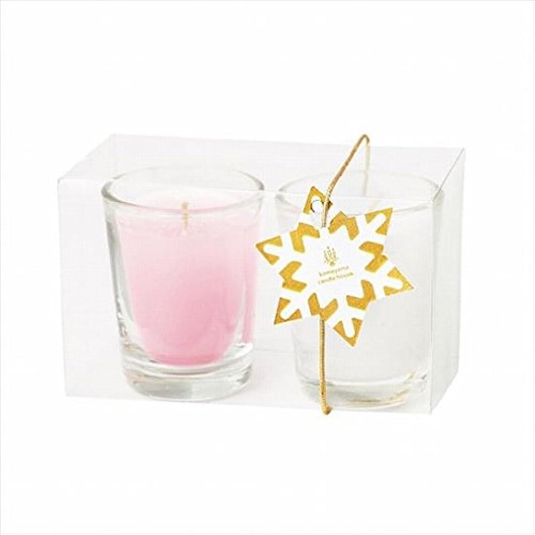 怠けたそばに労苦カメヤマキャンドル(kameyama candle) ミニライト2個入り 「 ホワイト&ピンク 」