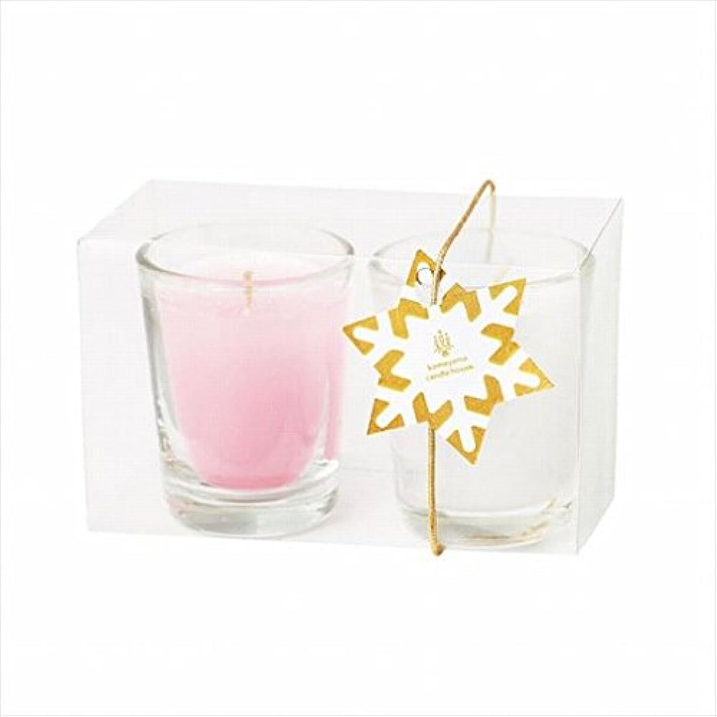 ピストンメリー競合他社選手カメヤマキャンドル(kameyama candle) ミニライト2個入り 「 ホワイト&ピンク 」
