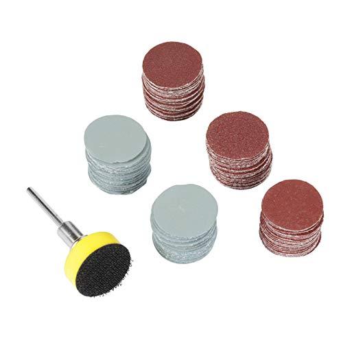 Disco de lijado, lijadora de pulido, discos de lijado, almohadilla, 100 piezas, potente acabado, papel de lija de carburo de silicio, almohadillas de pulido de 25 mm para taladro