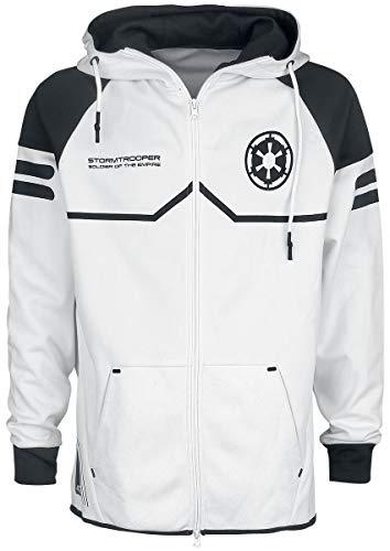 Star Wars Stormtrooper Uomo Felpa jogging bianco M 100% poliestere Regular