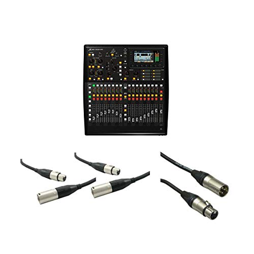Behringer X32 PRODUCER 40-Input, 25-Bus Rack-Mountable Digital Mixing Console - With 50' XLR (M) to XLR (F) Lo-z Microphone Cable, 2 Pack 20' XLR (M) to XLR (F) Lo-z Microphone Cable