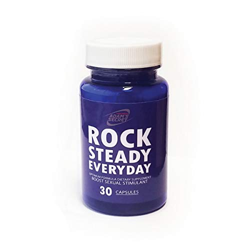 Adam's Secret Rock Steady Everyday 100% Natural Pills for Men Boost Your Performance, Energy, and Endurance Sexual Stimulant (30 Capsules)