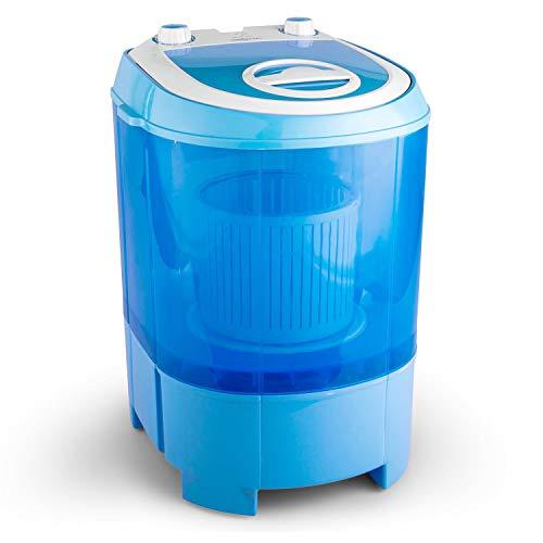 oneConcept SG003 - Camping-Waschmaschine, Mini-Waschmaschine, Wäscheschleuder, Toploader, 2,8 kg Kapazität, 180 Watt Leistung, für Singles und Studentenhaushalte, geräuscharm, sparsam, himmelblau