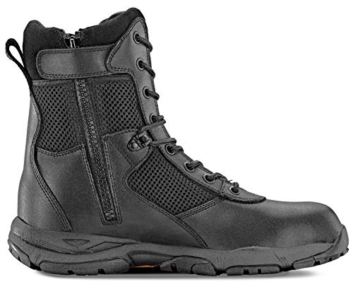 Maelstrom Landship 2.0 Men's 8' Black Military Tactical Boots with Zipper, Size 11M