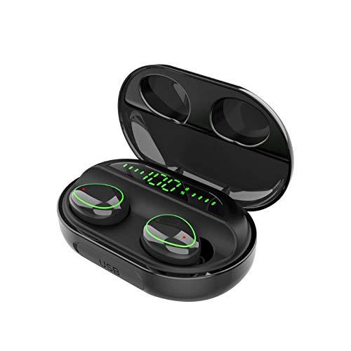 GUOJIAYI Auriculares inalámbricos táctiles binaurales 5.0 llamada pantalla digital de gran capacidad Bluetooth auriculares