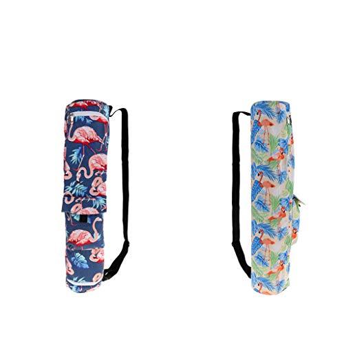 freneci Pack 2 Bolsa de Transporte de Lona para Esterilla de Yoga para Ejercicio Deportivo con Bolsillo de Almacenamiento