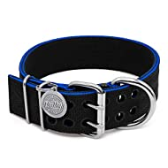 Pit Bull Collar, Dog Collar for Large Dogs, Heavy Duty Nylon, Stainless Steel Hardware