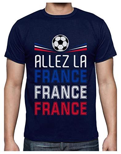 Green Turtle T-Shirts Camiseta para Hombre - Apoya a la Selección de Francia en el Mundial 2018! X-Large Azul Oscuro
