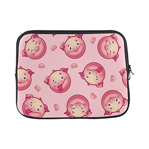 INTERESTPRINT Laptop Protective Carrying Bag Funny Pig Notebook Sleeve Pouch Case Bag 11 Inch 11.6 Inch