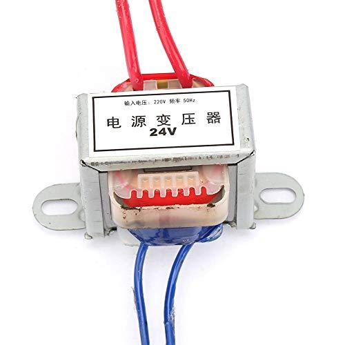 Oumefar Convertisseur 220V à 12 24V Convertisseur d'alimentation 2W Transformateur de Puissance 50Hz AC à AC EI pour expérience en école(24V)