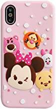 Soft Silicone Pink Walt Disney Case for Apple iPhone Xs XS Minnie Mouse Winne The Pooh Tigger Piglet Lotso Hugging Bear Cartoon Cute Lovely Slim Protective Gift Kids Teens Girls Daughter