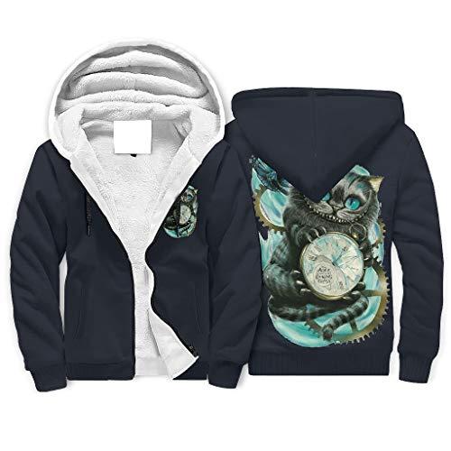 NC83 Männlich Reißverschluss Vorne Vlies Sweatjacke Teen Student Drucken Personalisieren - Halloween Baumwollvlies Atmungsaktiv Trainingsjacke für Mitarbeiter White XL