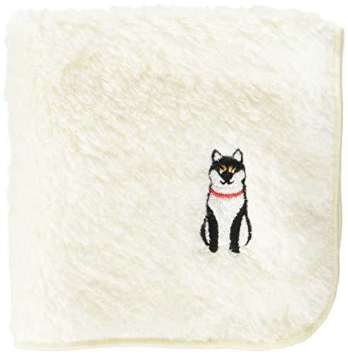 コージカンパニー ハンカチ 柴犬 日本製 パイル地 22×22cm おすわり 黒 184408