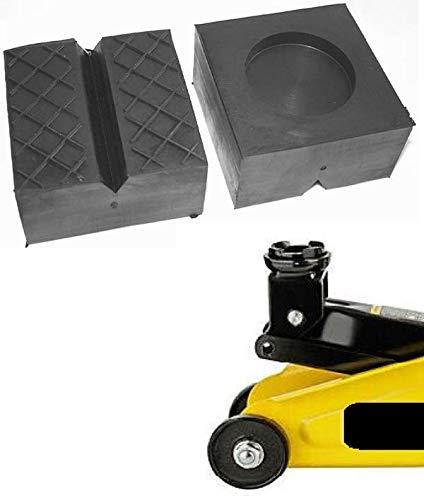 100x100x50mm mit V-Nut/Aussparung Gummi-Auflage Unterlage Wagen-Heber Hebebühne eckig Auto Set Unterstellbock Klotz Rangier-Wagenheber Puffer Reifen Reifenwechsel LKW Räder KFZ Tuning Zubehör