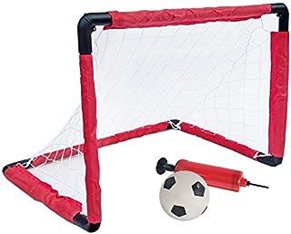 FFXZLSoccer Goal Indoor Folding Football Soccer Ball Goal Post Net Set Kids Sport Outdoor Home Game Toy Birthday Gift Plas...