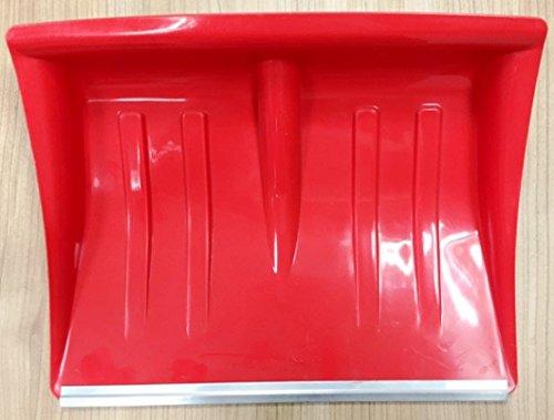 Hillfield® Kunststoff - Schneeschaufel rot mit Alukante 130 cm / 40cm / Holz-Stiel mit D-Griff (2 Stück)
