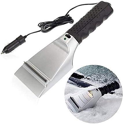 Destinie Heated Auto Electric Windshield Ice Scraper W/Flashlight Snow Melter Removal Car: image