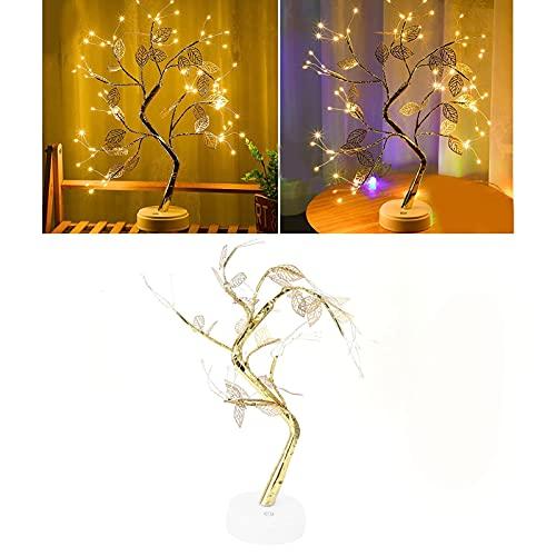 FEYV Lámpara de árbol Artificial, romántica y Moderna Forma de árbol, Hermosa luz 72 LED para el hogar, para decoración de Fiestas, para restaurantes, para Habitaciones de niños, Festivales,