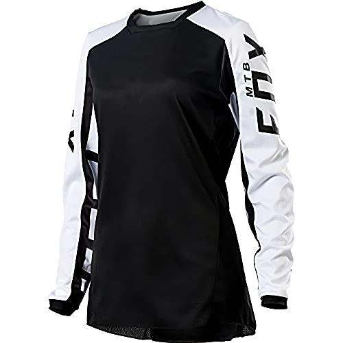 Camisetas de Descenso para Mujer Fox MTB Mountain Bike Ropa de MTB Offroad Dh Camiseta de Motocicleta Motocross Fxr Bike Tops Camiseta de Ciclismo Camiseta de Jersey para Hombre para montaña M