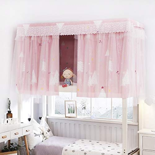Dormitory Bunk Bed Curtains Single Sleeper Blackout Cloth Gauze Bed Tent Curtain Shading Net Student Dorm Home Dustproof Sleep Privacy Protection Bed Canopy Mosquito Protection Net Bedroom Cabin Decor