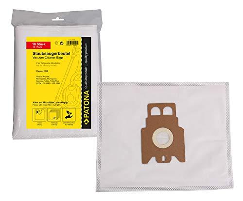 PATONA 10x Sacchetti per aspirapolvere compatibile con Hoover H22 H30 H36 H52 H60 H61, Sacchetto cinque strati in vello sintetico
