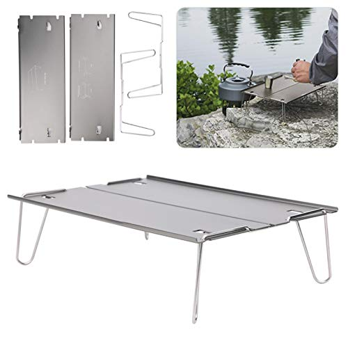 Pwshymi Camping Folding Table Stable Camping Table Non-slip for Barbecues