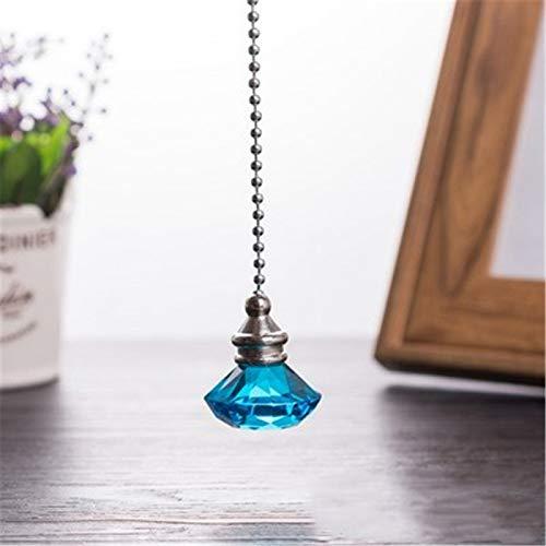 Fósforo ventilador interruptor artesanía, colgante de cristal de diamante colgante de árbol de Navidad (contiene solo colgante de cristal)