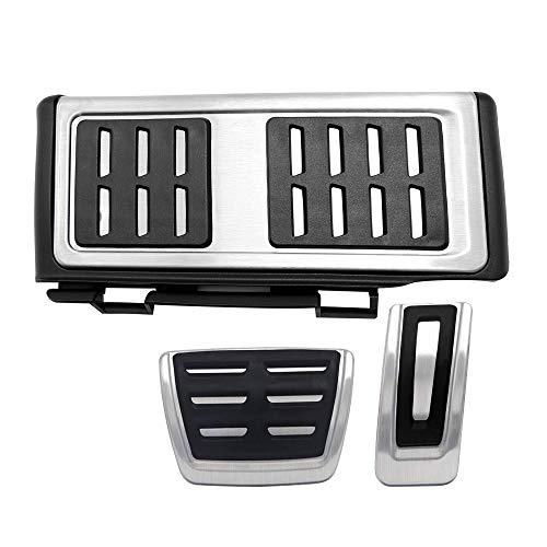 Edelstahl Bremse Pedalkappen Fußstütze Bremsen Gaspedal Pedale für GTi MK7 LHD Golf 7 GTI GTD
