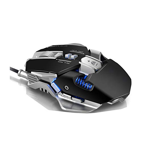 YL Mouse Gaming Pressure Gun Eating Chicken Competitive Games Jedi Survival Cross The Line of Fire Mechanical Metal Heavier Mouse Game Anchor Computer Internet Cafe Wired Mouse