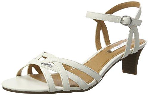ESPRIT Damen Birkin Sandal Offene Sandalen Weiß (110 Off White), 37 EU