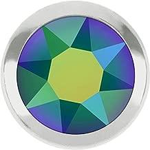 2078/H Swarovski Flatback Crystals Hotfix Framed SS16 | Crystal Scarabaeus Green Silver Rim | SS16 (3.9mm) - Pack of 50 | Small & Wholesale Packs