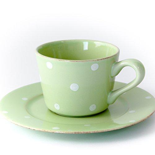 Gedeck/Kaffee/Tee 2-teilig/Ober- und Untertasse Chitra, grün, 0,20 l