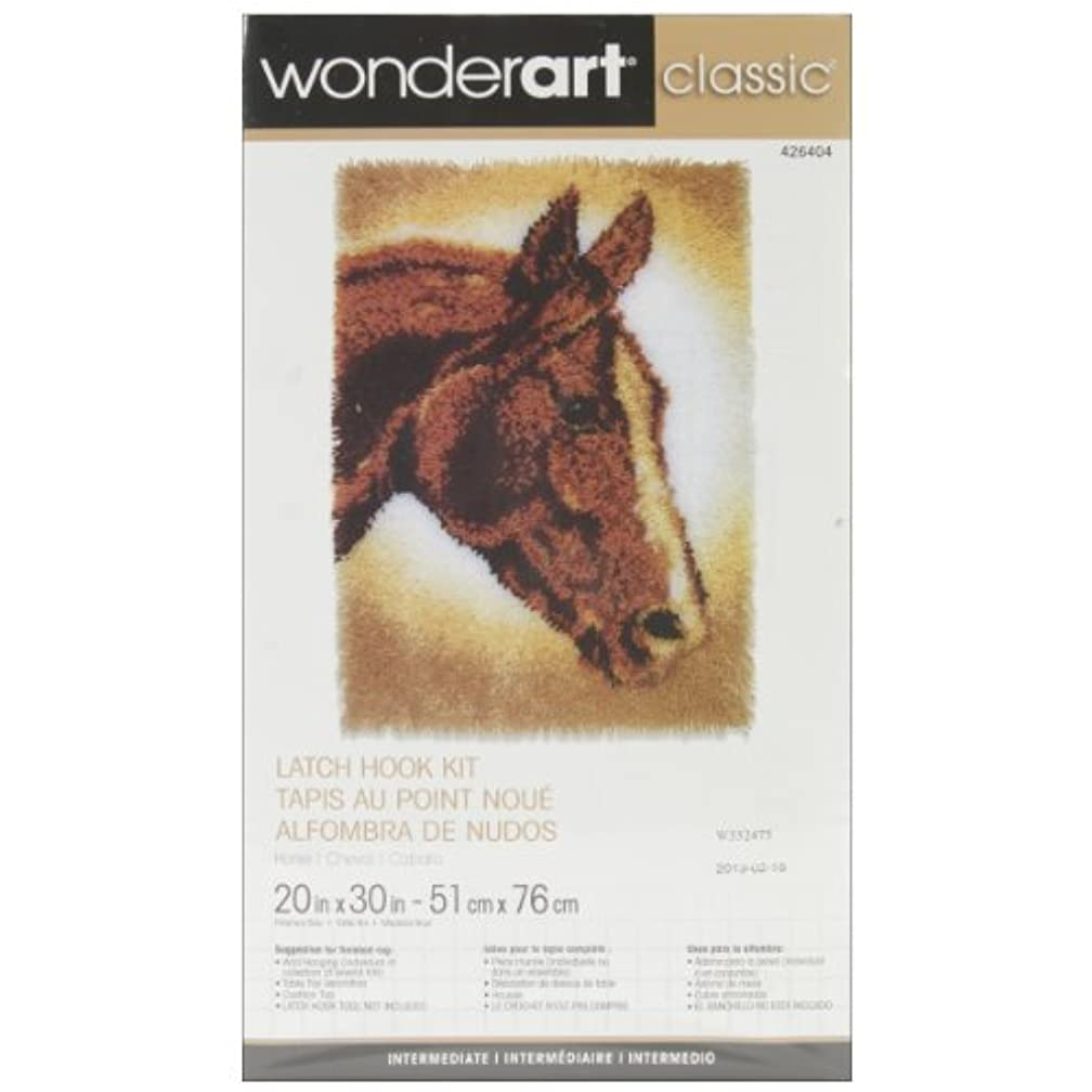 Wonderart Classics Horse Latch Hook Kit, 20