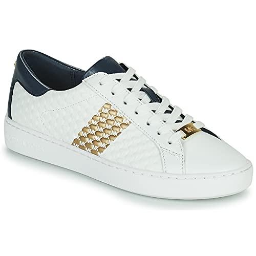 Michael Kors Zapatillas Deportivas Colby para Mujer Sneaker Combinadas Modelo 43S1COFS3L Color Blanco/Marino (406 Navy). (Numeric_36)