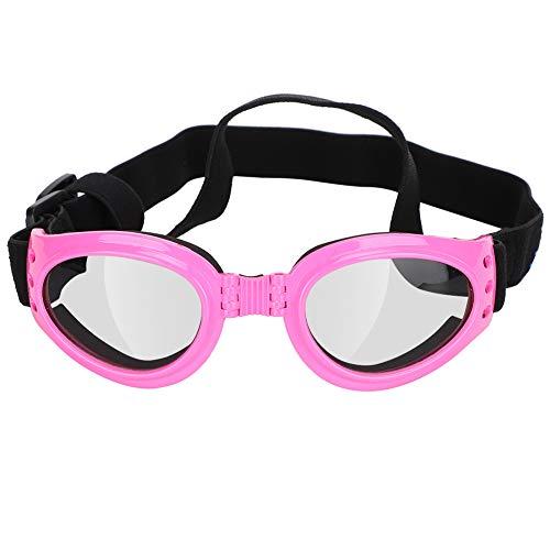 Boumcat Gafas de sol plegables para mascotas, resistentes al viento y a los rayos UV, decoración de gato rosa y perro, ajustable, adecuado para viajes, esquí, antivaho, etc.