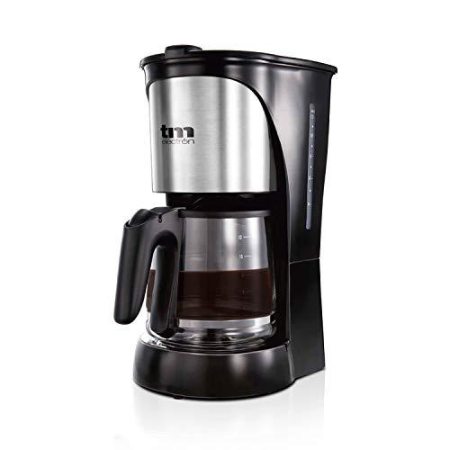TM Electron TMPCF005 cafetera eléctrica de Goteo, 1000W de Potencia, Jarra de 1,5L para 12 Tazas y Filtro extraíble, 1000 W, 14 Cups, Plástico, Acero Inoxidable