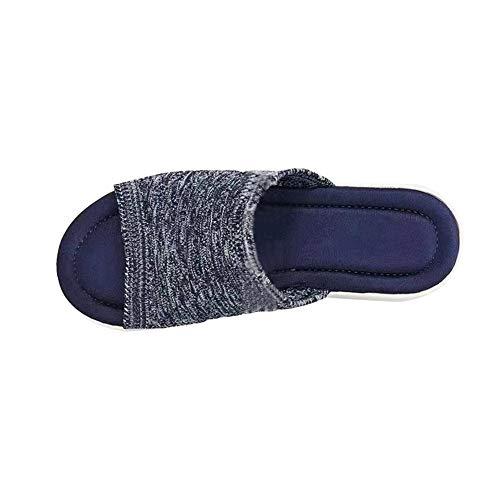 Sandalias de playa cómodas de la cuña de la parte inferior plana...